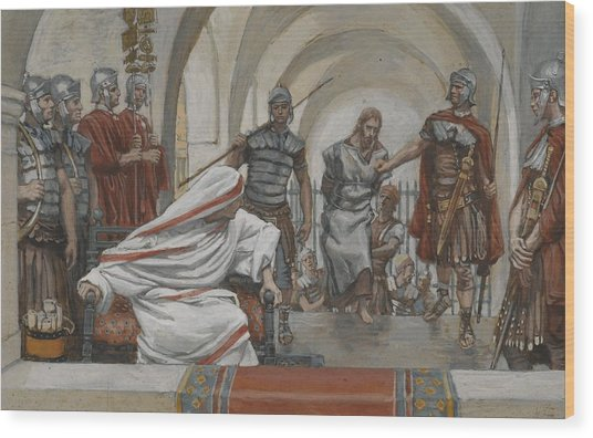 Jesus Led From Herod To Pilate Wood Print