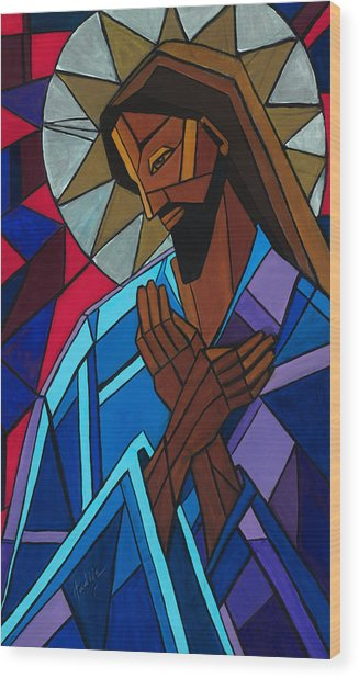 Jesus Wood Print by Mary DuCharme
