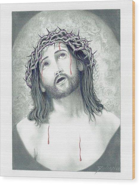 Jesus Of Nazareth Wood Print by Julian  B