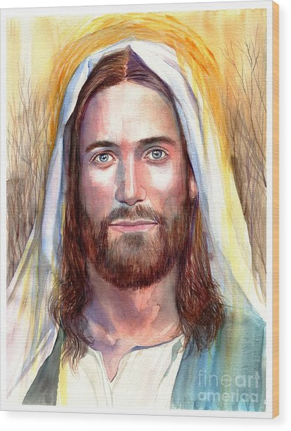 Jesus Of Nazareth Painting Wood Print