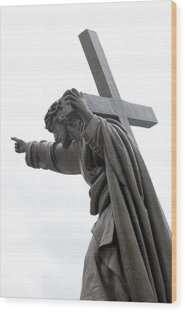 Jesus Wood Print by Stanislovas Kairys