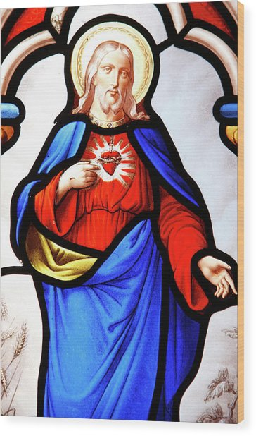 Jesus's Sacred Heart Wood Print