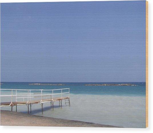 Jetty Beach.  Wood Print