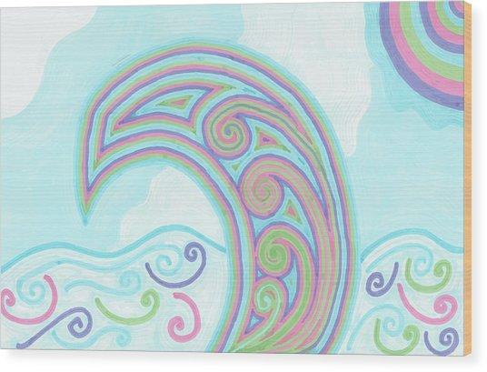 Jewel Sea Wood Print