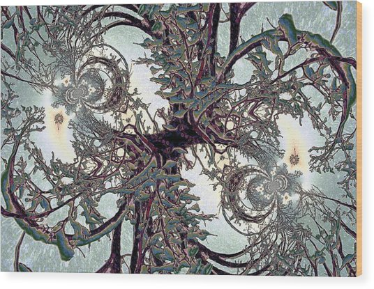 Jewel Tree Wood Print