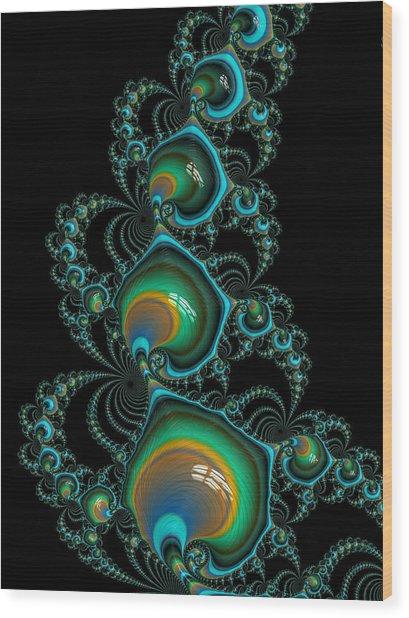 Jewelled Wood Print