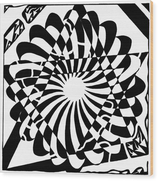 Jewish Pride Maze  Wood Print by Yonatan Frimer Maze Artist