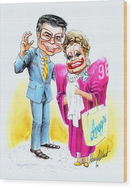 Jim And Tammy Wood Print