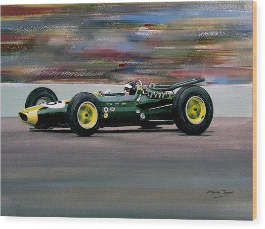 Jim Clark Indy 500 Wood Print