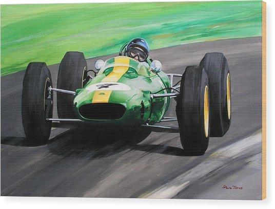 Jim Clark Lotus 25 Wood Print by Steve Jones