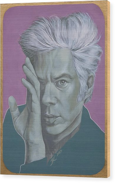 Jim Jarmusch Wood Print by Jovana Kolic