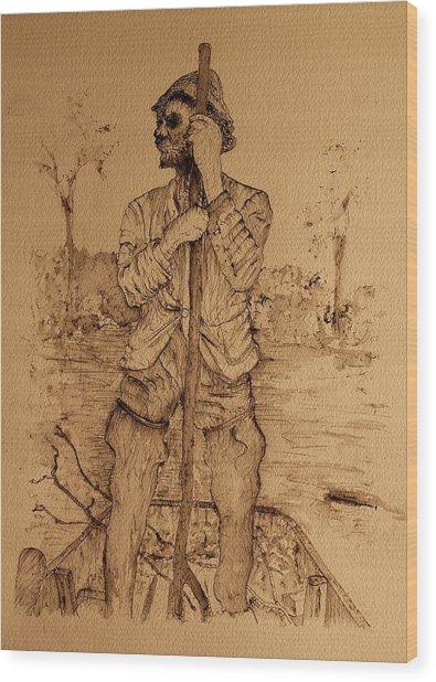 Jim Wood Print by Lee M Plate