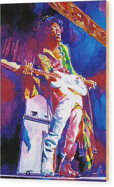 Jimi Hendrix - The Ultimate Wood Print