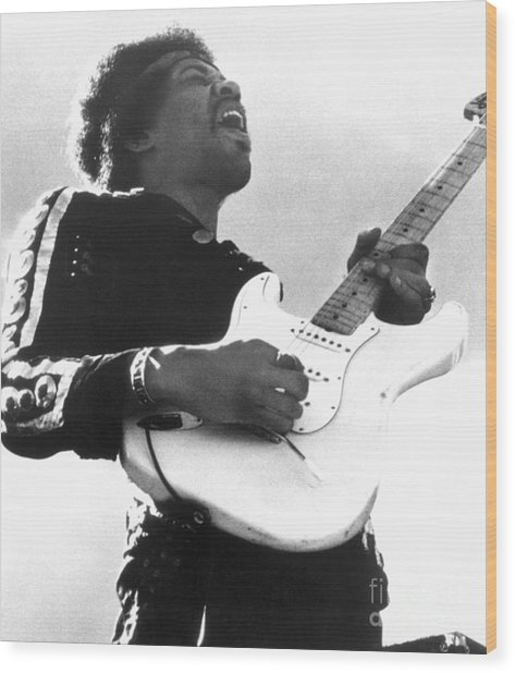 Jimi Hendrix (1942-1970) Wood Print