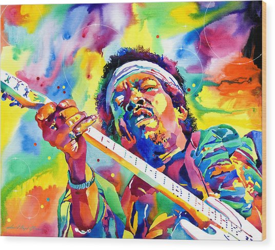 Jimi Hendrix Electric Wood Print
