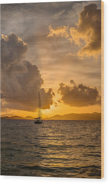 Jimmy Buffet Sunrise Wood Print