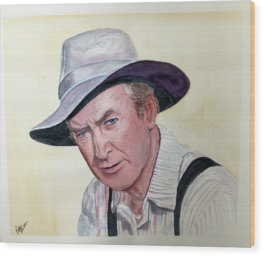 Jimmy Stewart Wood Print