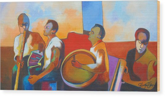 Jing  Ping Band Wood Print