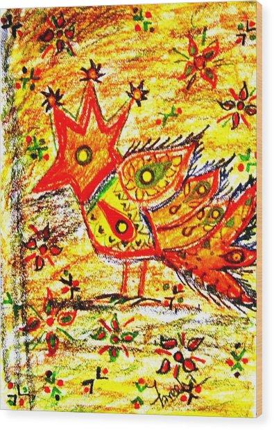 Jinga Bird II - Jinga Bird Series Wood Print