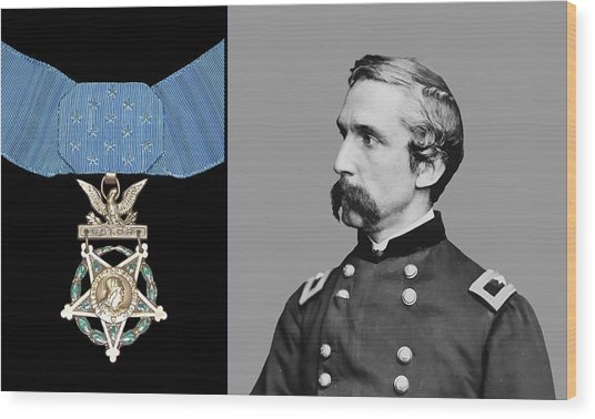 J.l. Chamberlain And The Medal Of Honor Wood Print