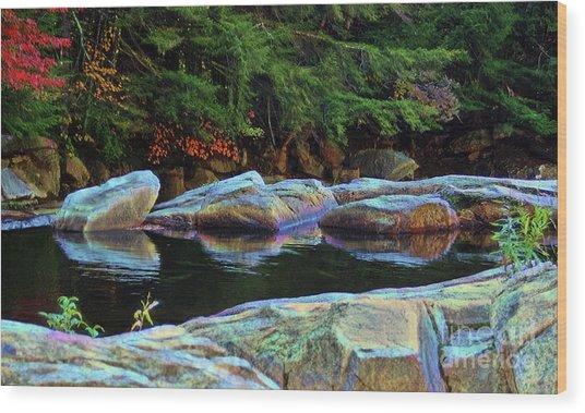 Jnh Boulder Glow Wood Print