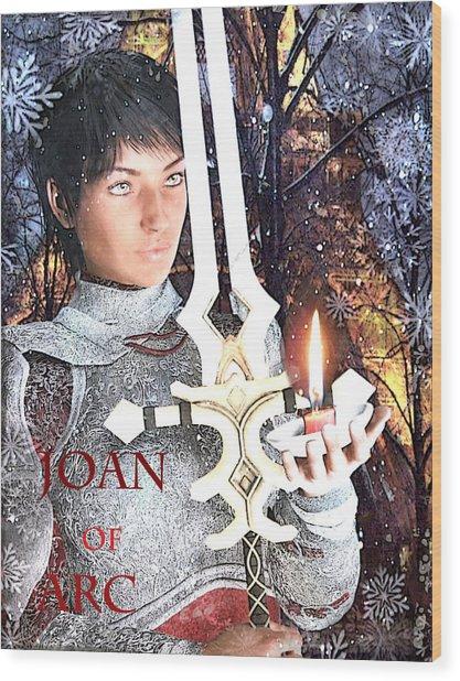 Joan Of Arc Poster 2 Wood Print