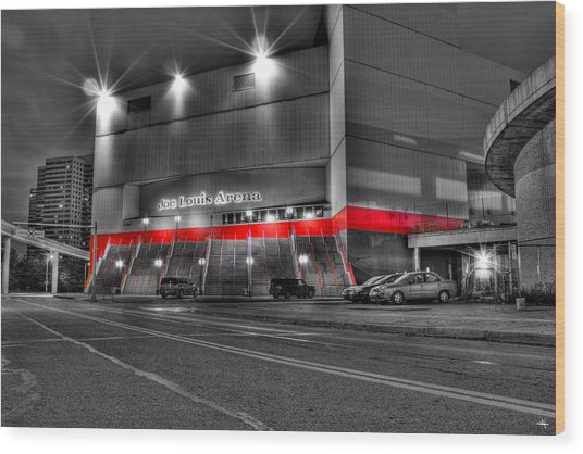 Joe Louis Arena Detroit Mi Wood Print