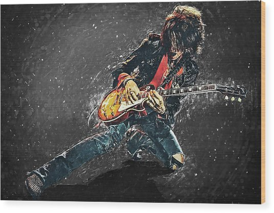 Joe Perry Wood Print