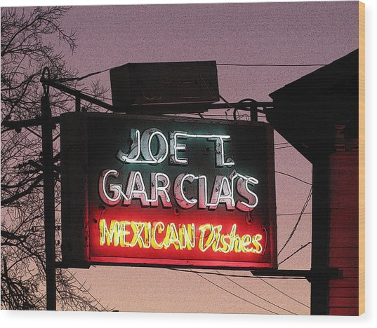 Joe T Garcia's Wood Print