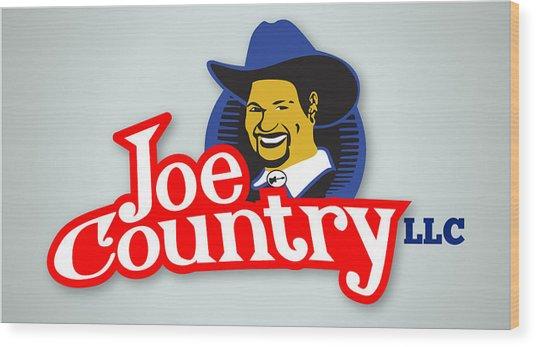 Joecountry Logo_llc Kitchen Wood Print by Joe Greenidge