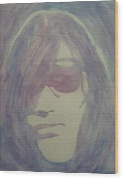 Joey Ramone Wood Print by Sheila Renee Parker