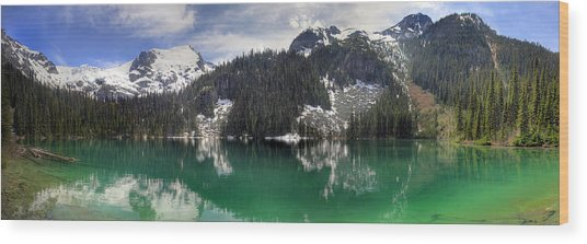 Joffre Lake Middle Panorama B.c Canada Wood Print by Pierre Leclerc Photography