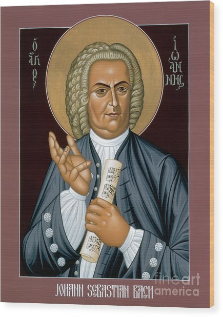 Johann Sebastian Bach - Rljsb Wood Print