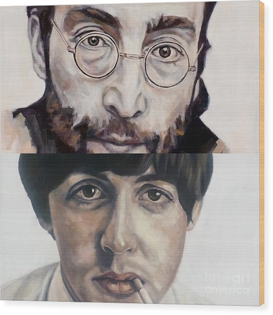 John And Paul Wood Print