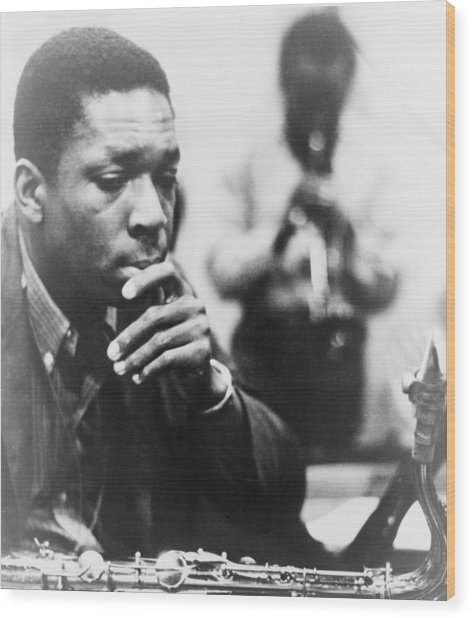 John Coltrane 1926-1967, Master Jazz Wood Print