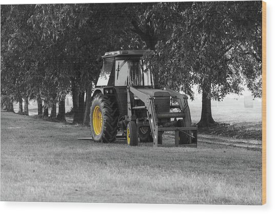 John Deere 620 In Selective Color Wood Print