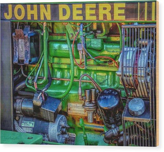 John Deere Engine Wood Print