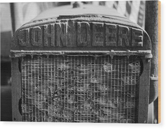John Deere In Monochrome Wood Print