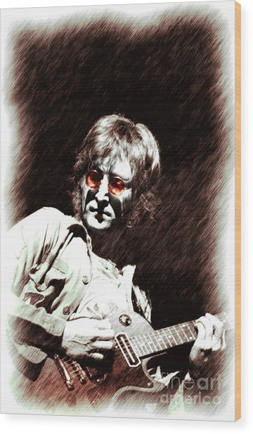 John  Imagine Wood Print