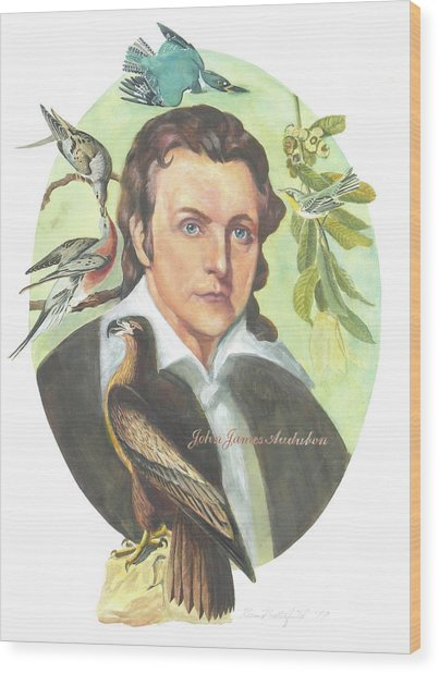 John James Audubon Wood Print by Kean Butterfield