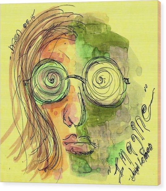 John Lennon Imagine Wood Print