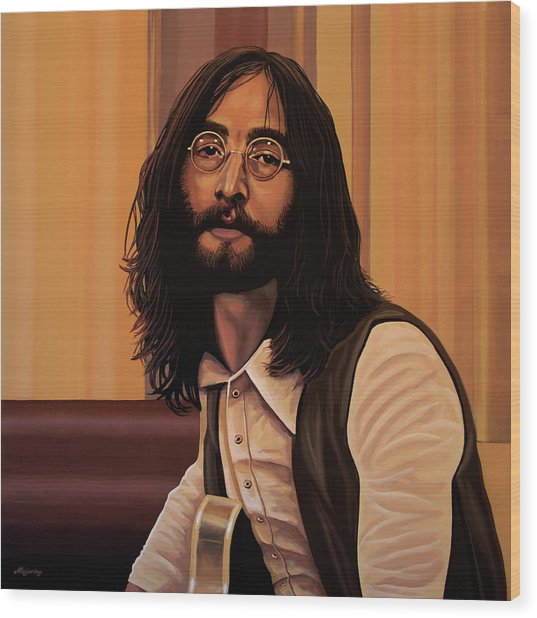 John Lennon Imagine Wood Print