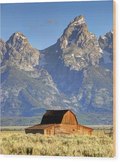 John Moulton Barn - Grand Teton National Park Wood Print