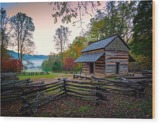 John Oliver Place In Cades Cove Wood Print