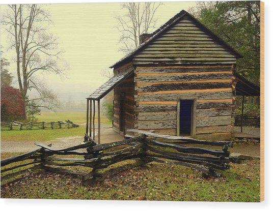 John Olivers Cabin Wood Print