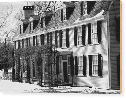 John Quincy Adams House Facade Wood Print by Heather Weikel