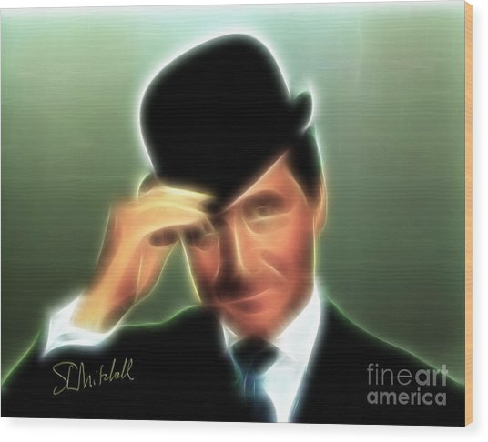 John Steed Wood Print