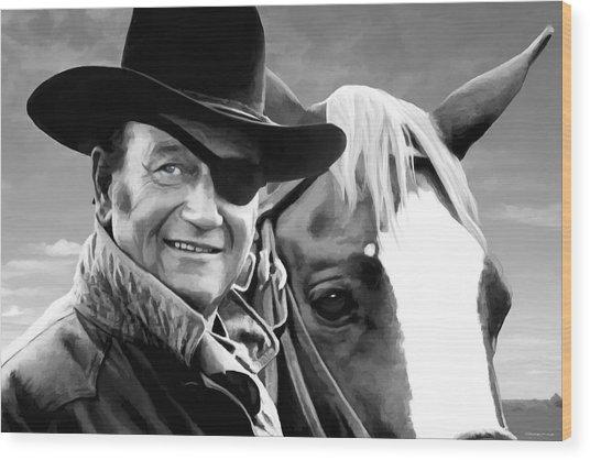 John Wayne @ True Grit #1 Wood Print