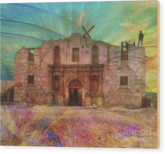 John Wayne's Alamo Wood Print