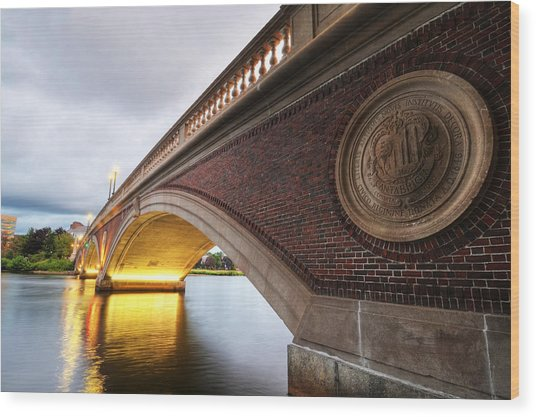 John Weeks Bridge Charles River Harvard Square Cambridge Ma Wood Print